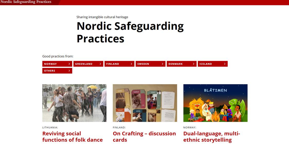 Nordic Safeguarding Practices verkkosivun etusivu